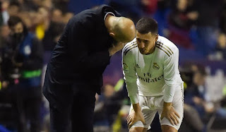 Hazard pulled out of Real Madrid training ahead of Alaves match