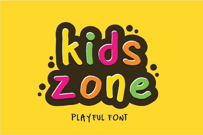 Kids Zone Playful Happy Birthday font