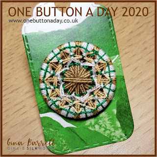 One Button a Day 2020 by Gina Barrett - Day 33: Lily