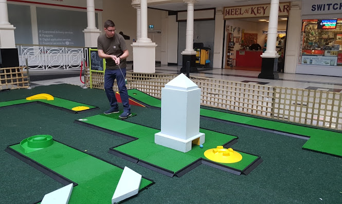 Crazy Golf at Walkden Town Centre