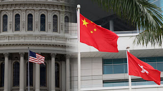 Bendera Amerika China dan Hongkong