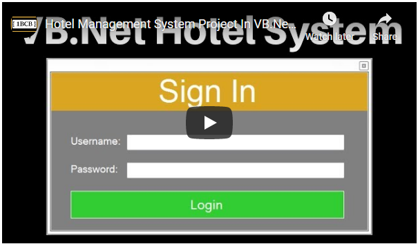 VB.Net Hotel Management System Source Code