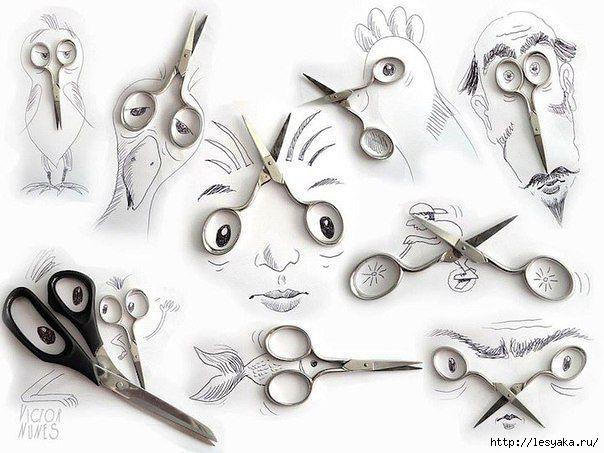 afilar, tijeras, truco casero, afilar con un vaso, tutorial, ideas útiles