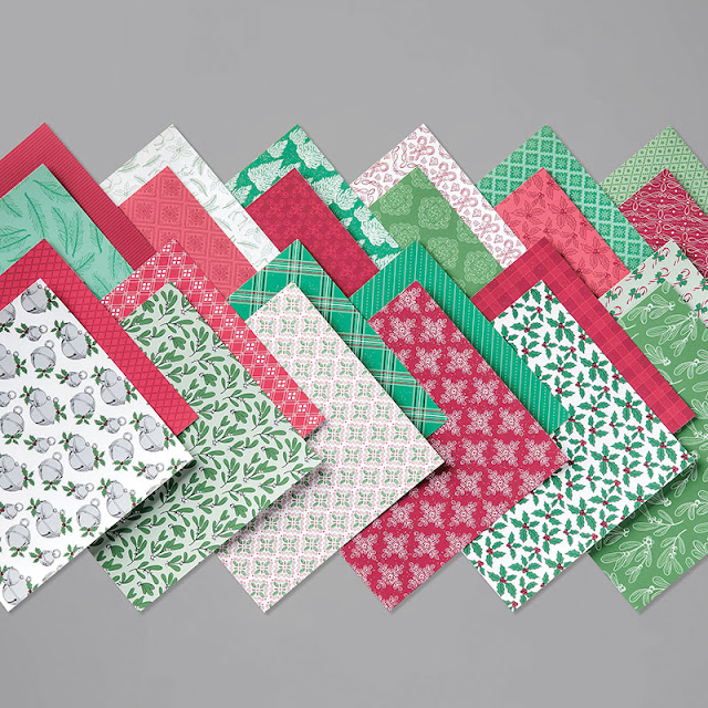 tis the season patterned paper, christmas paper,  stampin' up!, holiday mini catalog, paper crafts, stamping, craft supplies, stampin' up! demonstrator
