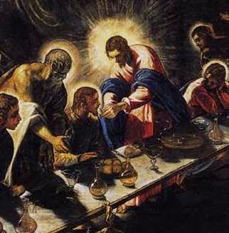 Last Supper Titian (detail)