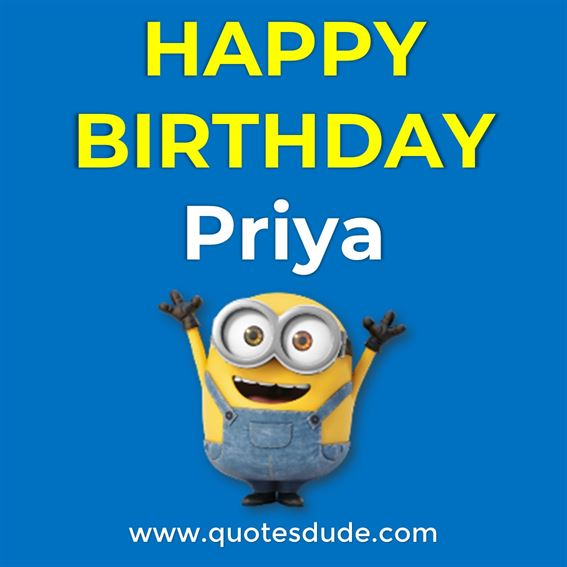 Happy Birthday Priya