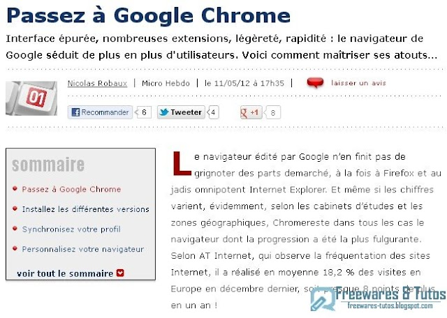 Le site du jour : comment passer à Google Chrome