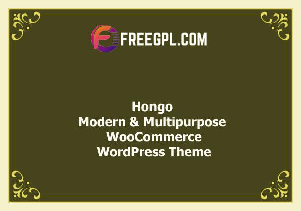 Hongo – Modern & Multipurpose WooCommerce WordPress Theme Nulled Download Free