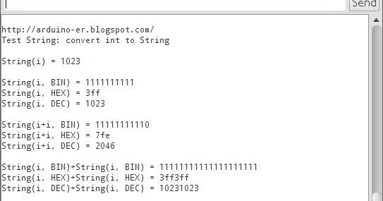 Arduino-er: Convert int to String