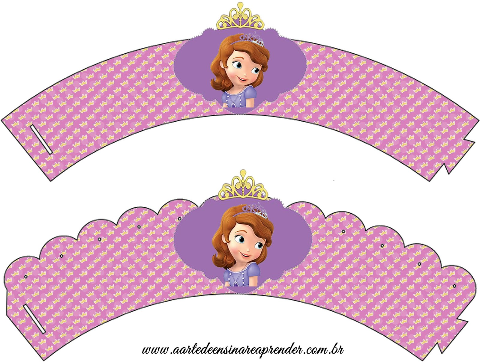 Forminhas Para Cupcake - Princesa Sofia