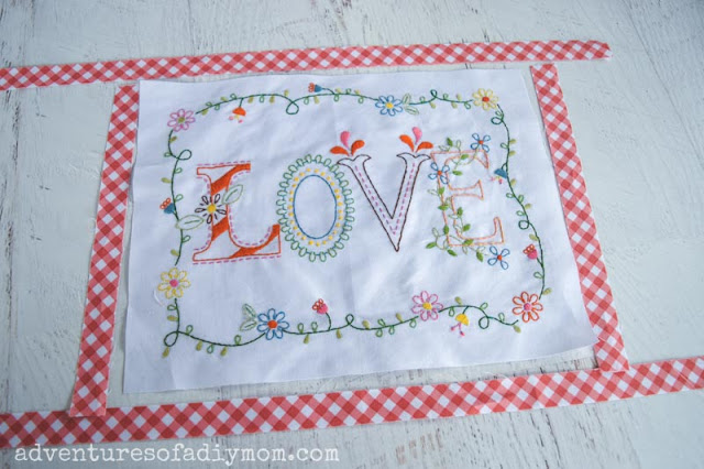 thin fabric to sew onto embroidered fabric