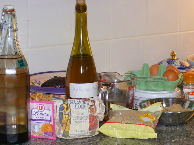 Ingredients for Spiced Walnut Cake. Photo by Loire Valley Time Travel.