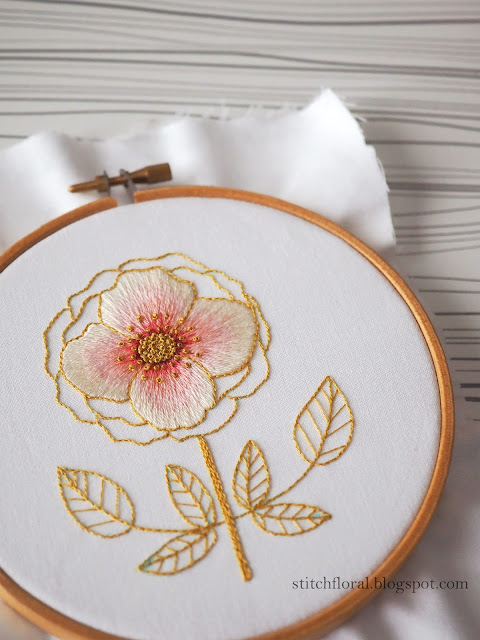 hand embroidery rose tutorial