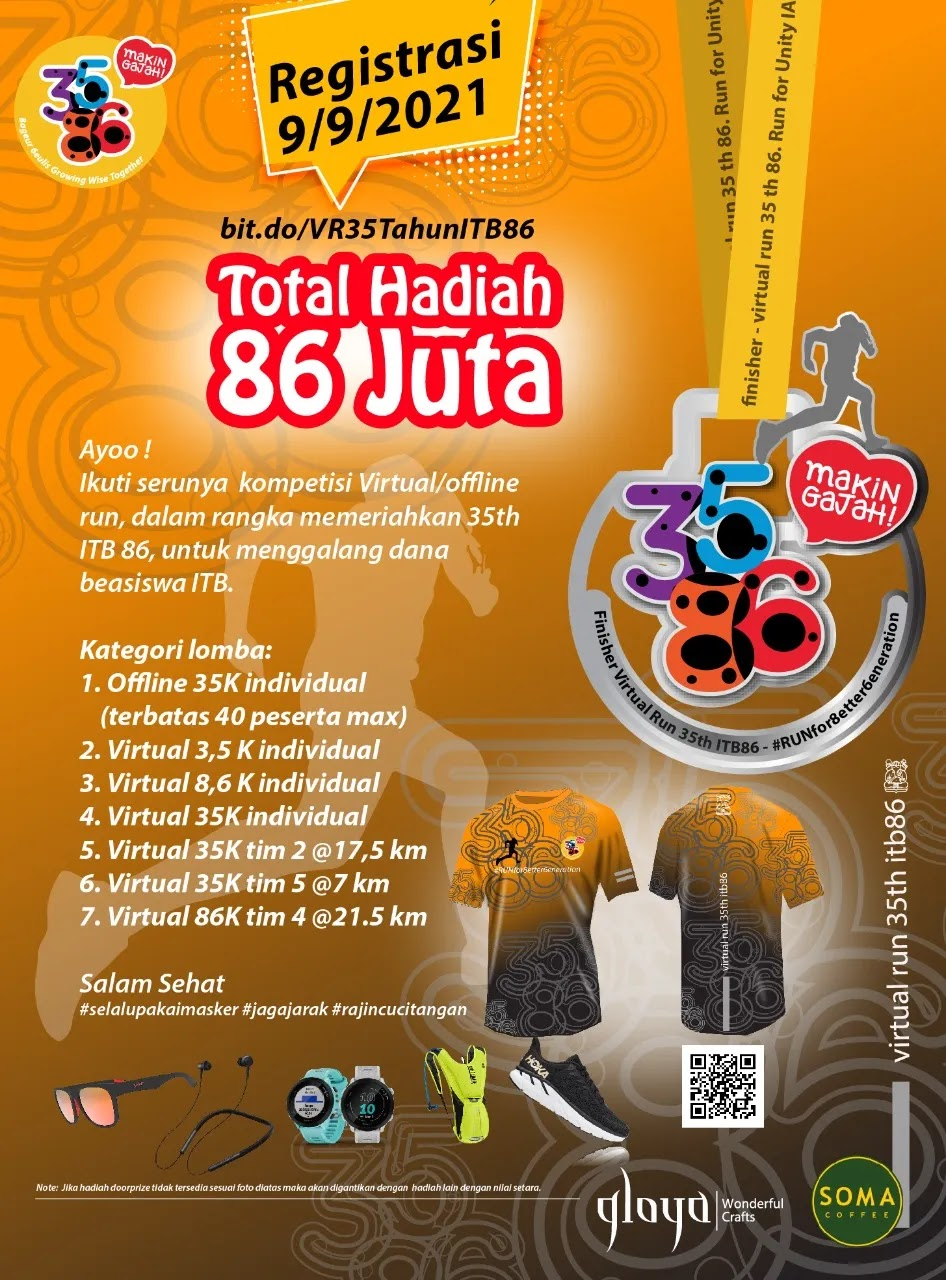Virtual Run 35th ITB86 • 2021