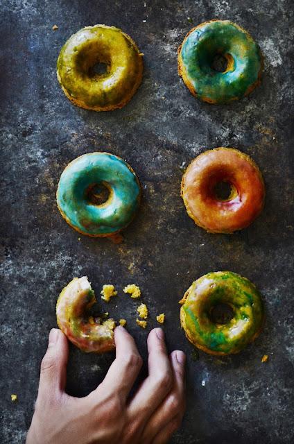 Vegan gluten-free chickpea donuts