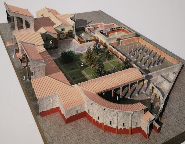 Reconstrucción del Edificio Termas Los Arcos I de Clunia