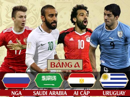Bảng A World Cup 2018: Uruguay và phần còn lại