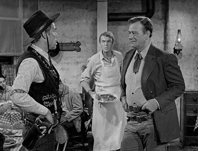 Lee Marvin, James Stewart and John Wayne