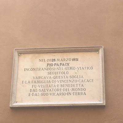 Beato Pio IX targa Cacace