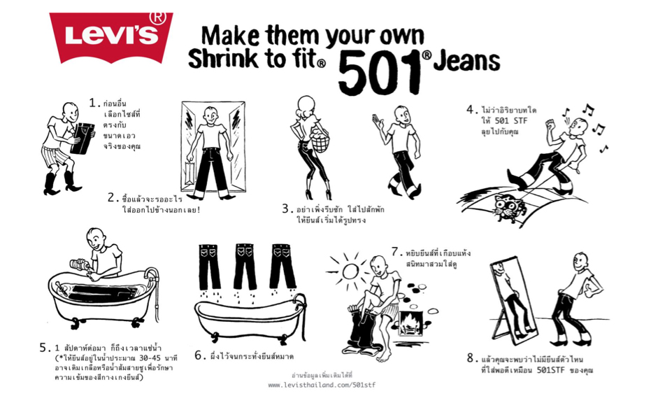 Levi's Thailand Introduces 501 Original Shrink to Fit™ Jeans