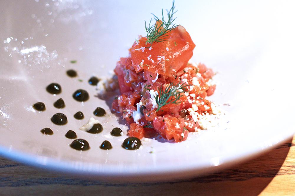 Salmon dish at Rozbrat 20 Restaurant, Warsaw - travel & lifestyle blog