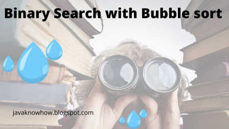 Binary Search in java with Bubble sort