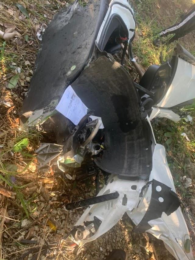 Se destruye auto de Chimbala y muere conductor en la autopista 6 de noviembre