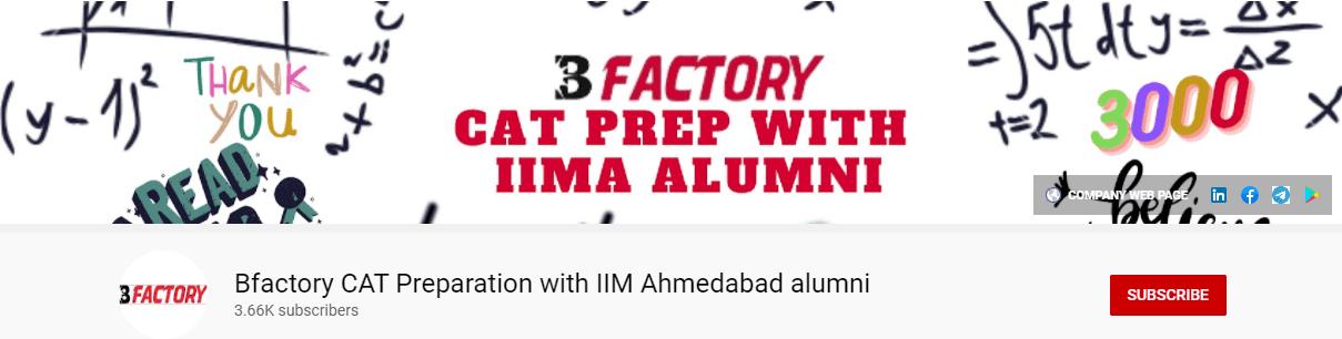 Bfactory CAT Preparation with IIM Ahmedabad alumni