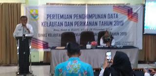 Kadis DKP Provinsì Jambi Secara Resmi Membuka Pertemuan Penghimpunan Data Kelautan Dan Perikanan Semester IV.
