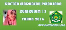 SK Dirjen Nomor 3932 Tahun 2016 : Daftar Madrasah Pelaksana Kurikulum 2013 Seluruh Indonesia
