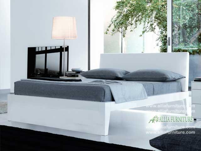 tempat tidur desain minimalis modern blues