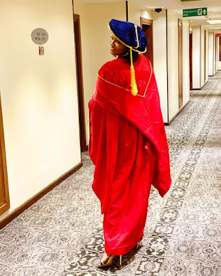 Igbinedion Varsity Awards Omotola Honorary Doctorate Degree, Jonathan & Wife Present
