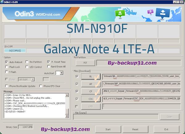 سوفت وير هاتف Galaxy Note 4 LTE-A موديل SM-N910F روم الاصلاح 4 ملفات تحميل مباشر