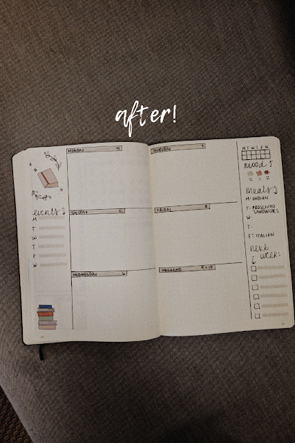 weekly spread bullet journal
