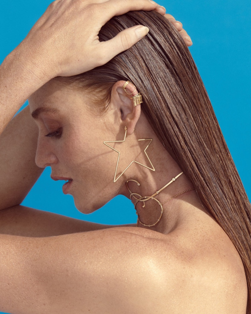 Cintia Dicker Stuns in Animale 'BLU' Jewelry Campaign
