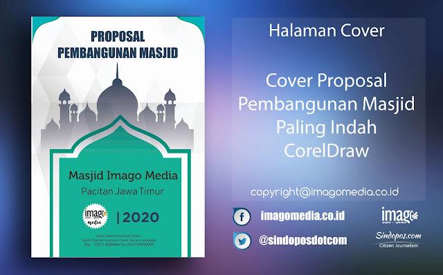 Cover Proposal Pembangunan Masjid Paling Indah CorelDraw