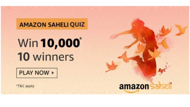 Amazon Saheli Quiz Answers Today
