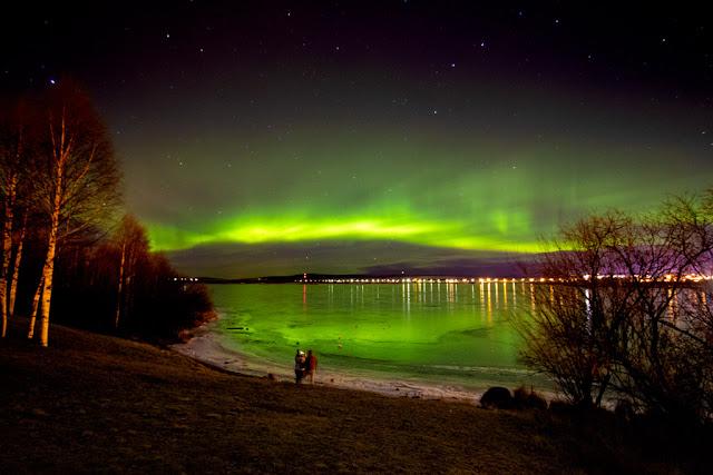 Aurora boreale all'Arktikum's park-Rovaniemi