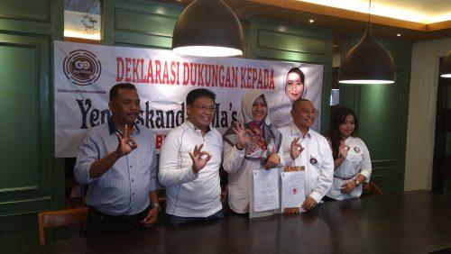 Gerakan Optimis Indonesia Deklarasi Dukungan Yena Masoem Maju Pilkada Kabupaten Bandung, Ini Alasannya
