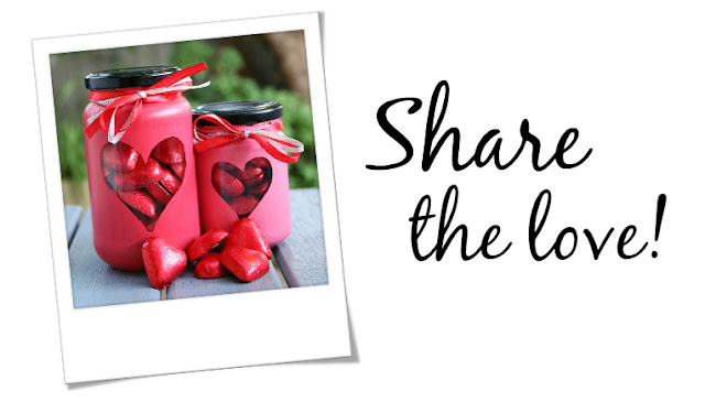 How to Make Painted Heart Valentine's Day Treat Jars - DIY Valentines Candy Jars