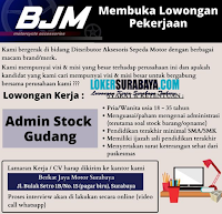 Lowongan Kerja Surabaya di Berkat Jaya Motor Juli 2020