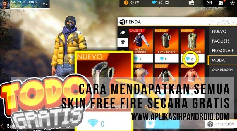 Cara mudah hack skin pada game free fire