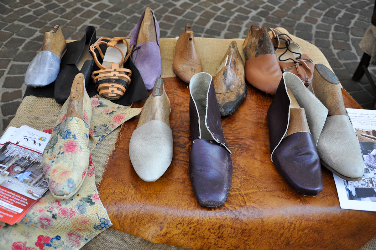 Handmade shoes, Old crafts festival, Corso Fogazzaro, Vicenza, Veneto, Italy
