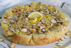 Lemon Curd Almond Torte