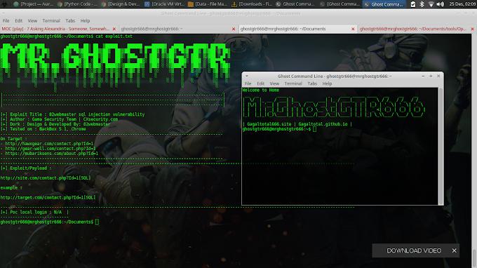 82webmaster SQL Injection Vulnerability Tested on BackBox GNU/Linux