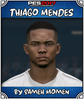 PES 2017 Faces Thiago Mendes by Sameh Momen