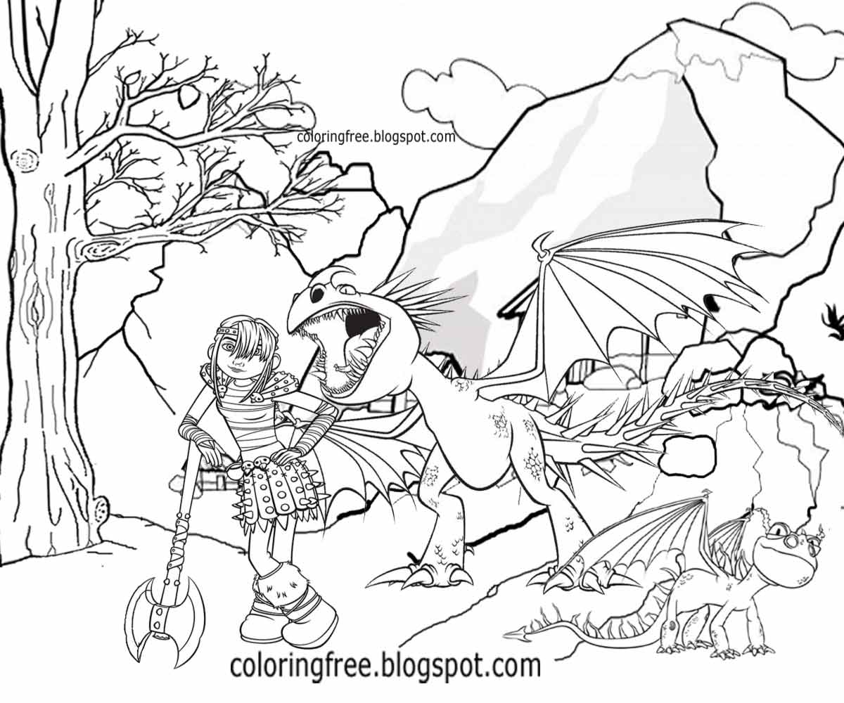 Printable coloring pages vikings - Printable Train Your Dragon Coloring For Children Cartoon Viking Warrior Pictures Illustration Ideas