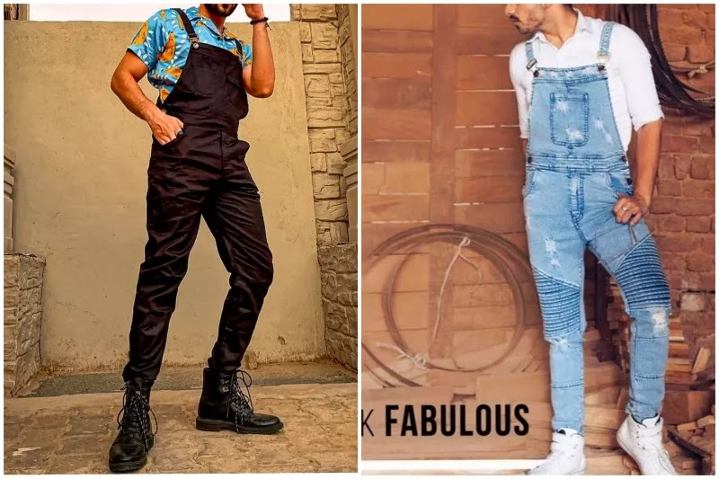 Men's dungarees/overalls fashion With shirts
