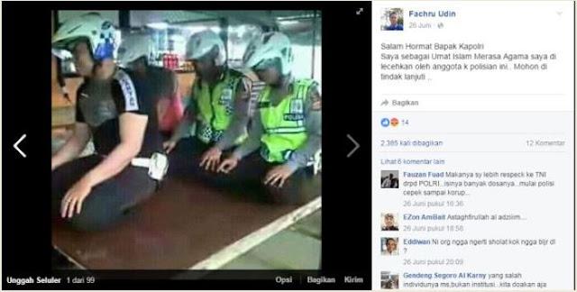 Dianggap Menghina Gerakan Shalat Netizen Minta Kapolri Pecat Anggotanya