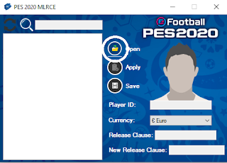 Open PES 2020 MLRCE and click on Open icon. Here you need to choose your ML file.